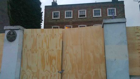 The property has been boarded up for years. Picture: Rossana Tich
