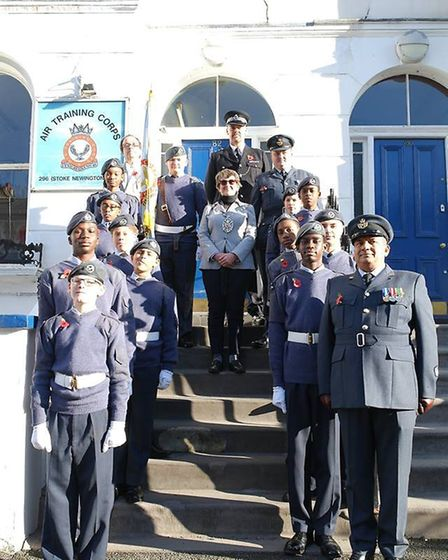 The squadron outside the Albion Road base for promotions last year.