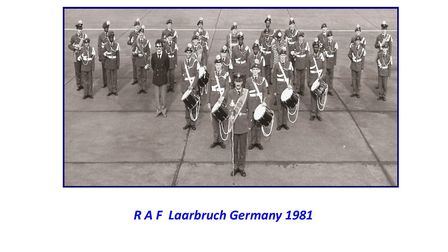 The Squadron band in Germany in 1981 celebrating the wedding of Charles and Diana.