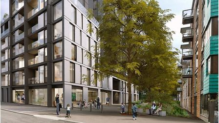 An artist's impression of the school set to be built in Nile Street. Picture: Hackney Council