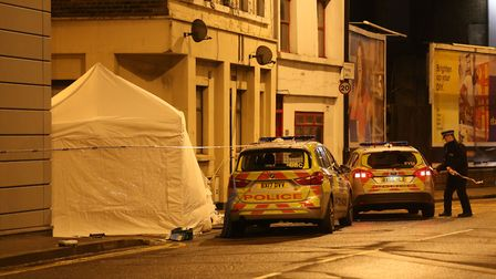 The scene in Link Street and Morning Lane this morning. Picture: Jonathan Brady/PA Wire