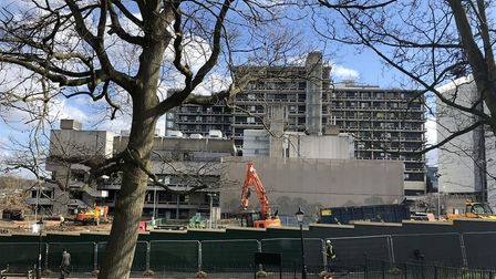Work on the Pears building at the Royal Free Hospital. Picture: LINDA GROVE