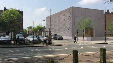An artist's impression of the synagogue. Picture: John Stebbing Architects