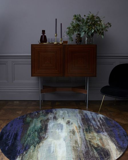 'After Caravaggio' by Primrose Hill artist Michal Cole, for Knots Rugs.