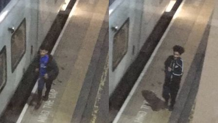 The two teenagers British Transport Police suspect of carrying out the attack, after boarding at Wes