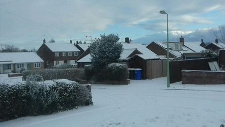 There has been plenty of snowfall in Bungay. Picture: Simon Taylor