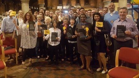 The Liberal Democrats launched their manifesto at St James' Church in West Hampstead