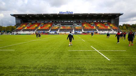General view of the pitch at Allianz Park, the home of Saracens (pic: Nigel French/PA)