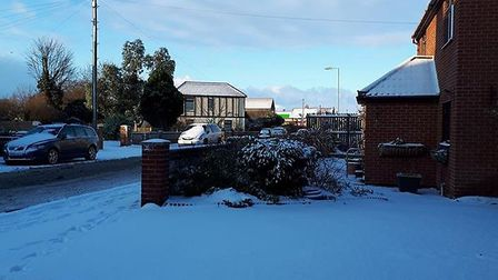 Snowy conditions in Kessingland. Picture: Susy Goldsmith