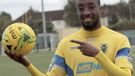 Ralston Gabriel was on target again for Haringey Borough (pic: Tony Gay)