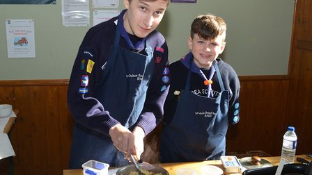 The annual Lowestoft and District Scouts Cookery Competition. 1st Oulton Broad. Pictures; Mick Howes