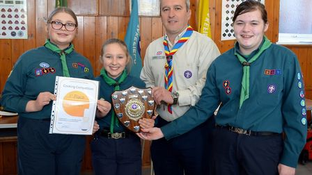 The annual Lowestoft and District Scouts Cookery Competition. The winners 2nd Carlton Colville. Pict