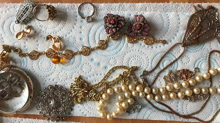 The find includes necklaces, rings, and brooches. Photo: The Pet Detective