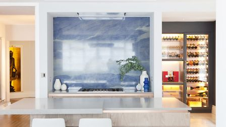 The property featured artwork from Sankti Burman and a bespoke wine room to show off the client's im