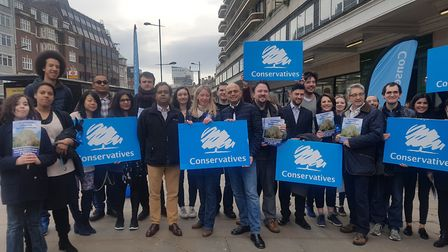 The Conservatives were joined by Sajid Javid to launch their manifesto for the local elections on Sa