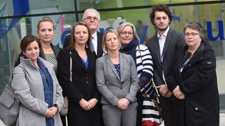 Campaigners against plans to change home-to-school transport policy: Picture: GREGG BROWN