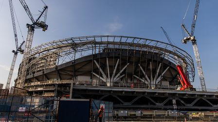 A general view of the ongoing contruction of Tottenham Hotspur's new White Hart Lane stadium (pic: S