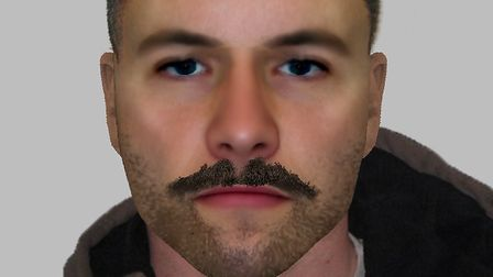 An e-fit of a man police want to speak to in connection with a rape in Camden, in November last year