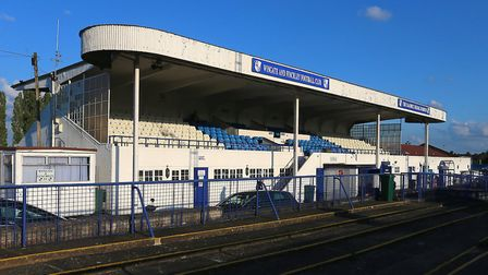 General view of the main stand at Wingate & Finchley's Maurice Rebak Stadium (pic: Gavin Ellis/TGS P