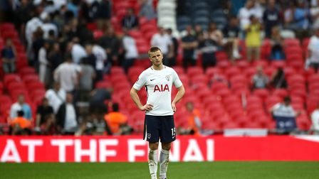 Tottenham Hotspur's Eric Dier shows his disappointment after Saturday's FA Cup semi-final match agai