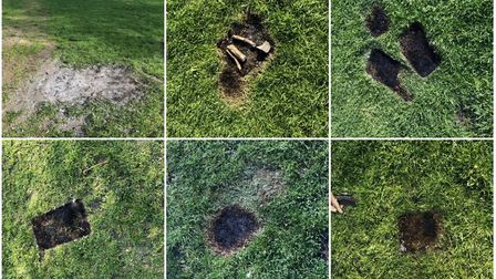 The grass in London Fields was left scorched after the first weekend of hot weather this year. Pictu