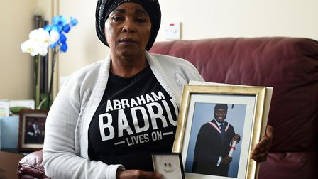 Ronke Badru, the mother of Abraham Badru says his killing was 'revenge'. Picture: Kirsty O'Connor/PA