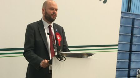 Phil Glanville gives a speech on being re-elected as Hackney's mayor. Picture: Emma Bartholomew