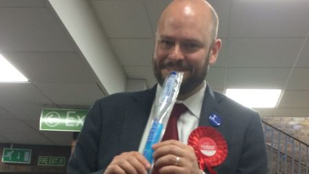 Phil celebrates re-election with an ice pop