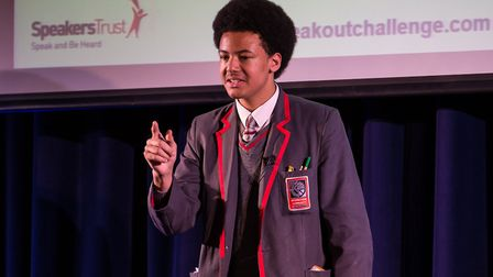 Jean Kossoko-Ormerod from Mossbourne Community Academy bagged first place in the Hackney regional fi