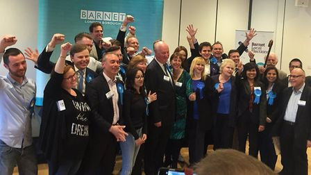 Conservatives celebrate in Barnet. Picture: Vicky Munro