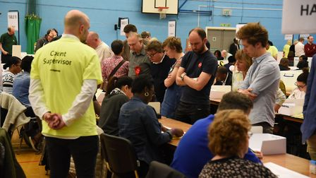 The Hackney council elections taking place at the Britannia Leisure Centre