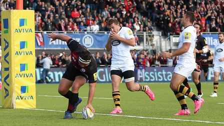 Jamie George scored a hat-trick of tries for Saracens against Wasps in October (pic: Nigel French/PA
