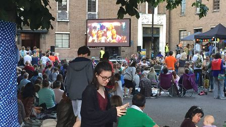 Crouch end festival big screen on the green