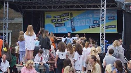 A Band on the main stage at the Crouch End Festival