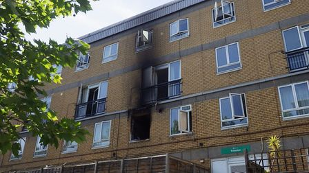 The property in Plender Street, Camden Town. Picture: London Fire Brigade/Twitter