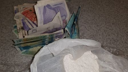 Cash and drugs were found in a safe in the house in Alconbury Road