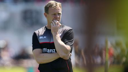 Saracens Director of Rugby Mark McCall during the Aviva Premiership Semi Final at Allianz Park, Lond
