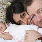 The Ratclliffe family when Gabriella was just one week old. Picture: FAMILY