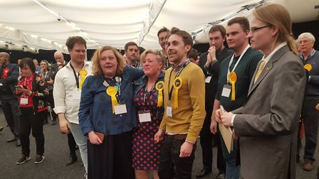 Haringey Liberal Democrats celebrate after gains in Haringey, completely taking wards in Muswell Hil