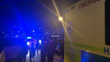Emergency services were called to the fire in Ravesndale Road on Wednesday. Picture: @999London