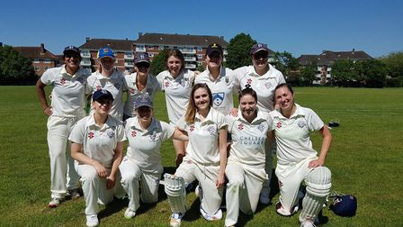 Hampstead's women first-team face the camera (pic: Hampstead CC).