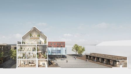 An artist's impression of what the development in Gillett Square would look like