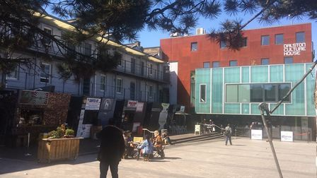 Gillett Square which is set for an overhaul if HCD obtains planning permission. Picture: Emma Bartho