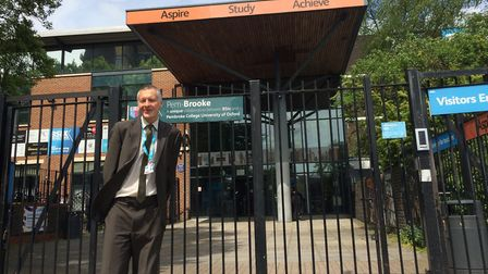 Kevin Watson standing outside BSix where he has just taken over as principal. Picture: BSix