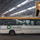 A Camden Council vehicle at the York Way Depot and (inset) deputy traffic commissioner John Baker