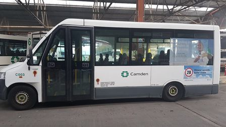 Some buses at the council's York Way depot are used to drive children to school and pensioners to da