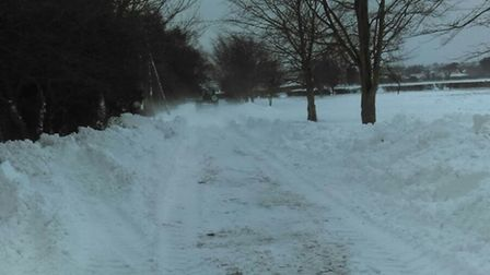 Lound Hall has to enlist the help of two farmers due to the treacherous snow on its driveway. Pictur