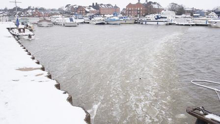 Parts of Oulton Broad have started to freeze.Picture: Nick Butcher