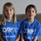 Fleur Fitzgerald, 10, and younger brother Ridley, nine. Picture: Lindsay Riley