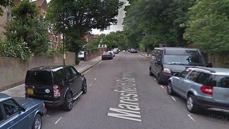 Moped thugs were driving up and down Maresfield Gardens before pulling alongside Ms Pitts' car and s